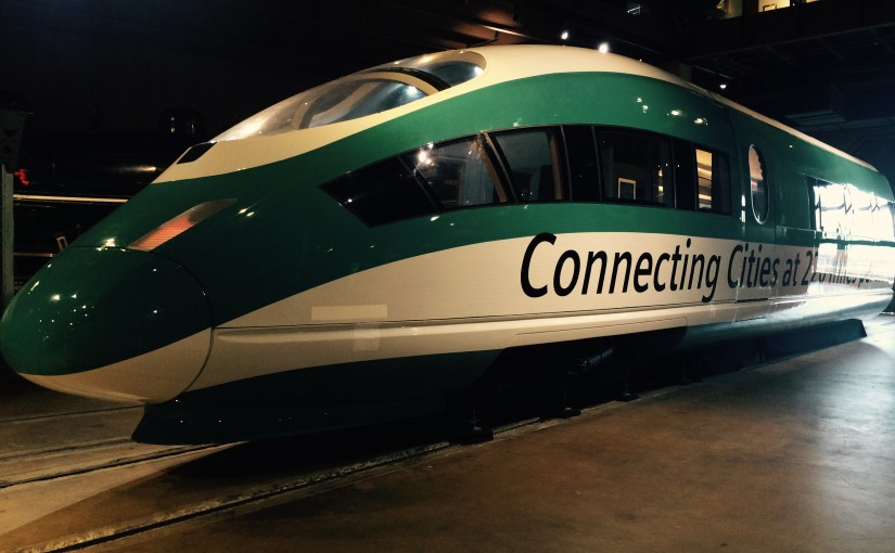 High Speed Rail Exhibit in Sacramento Looks to the Future of Train Travel in California
