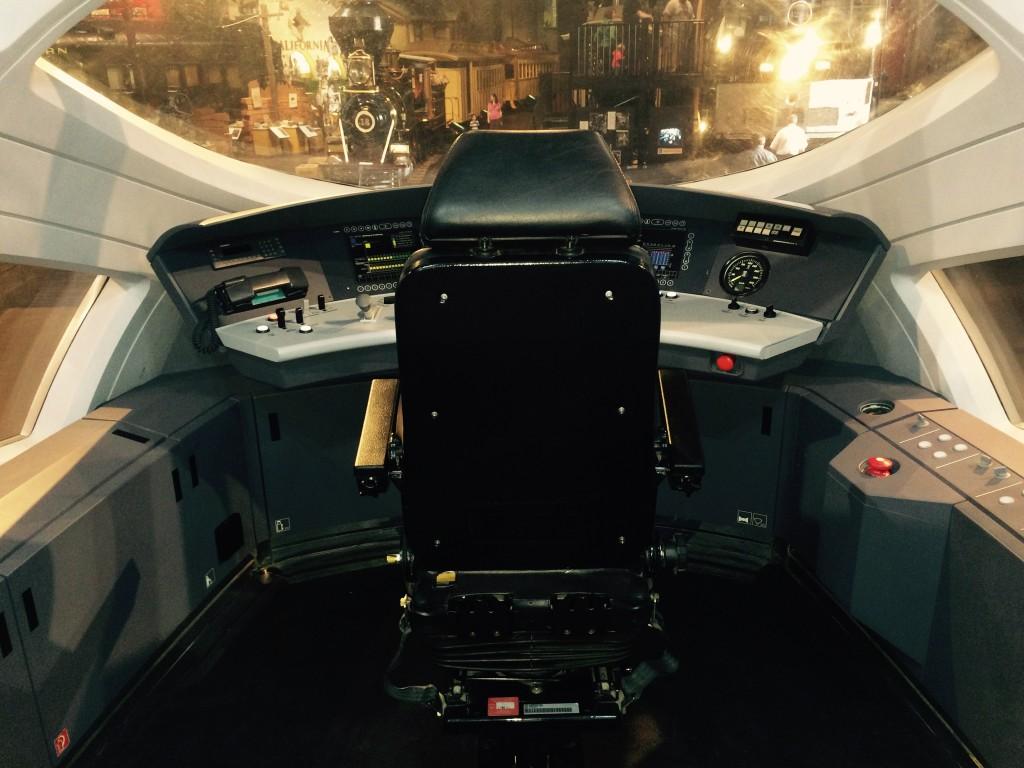 Shinkansen high speed rail cockpit simulator