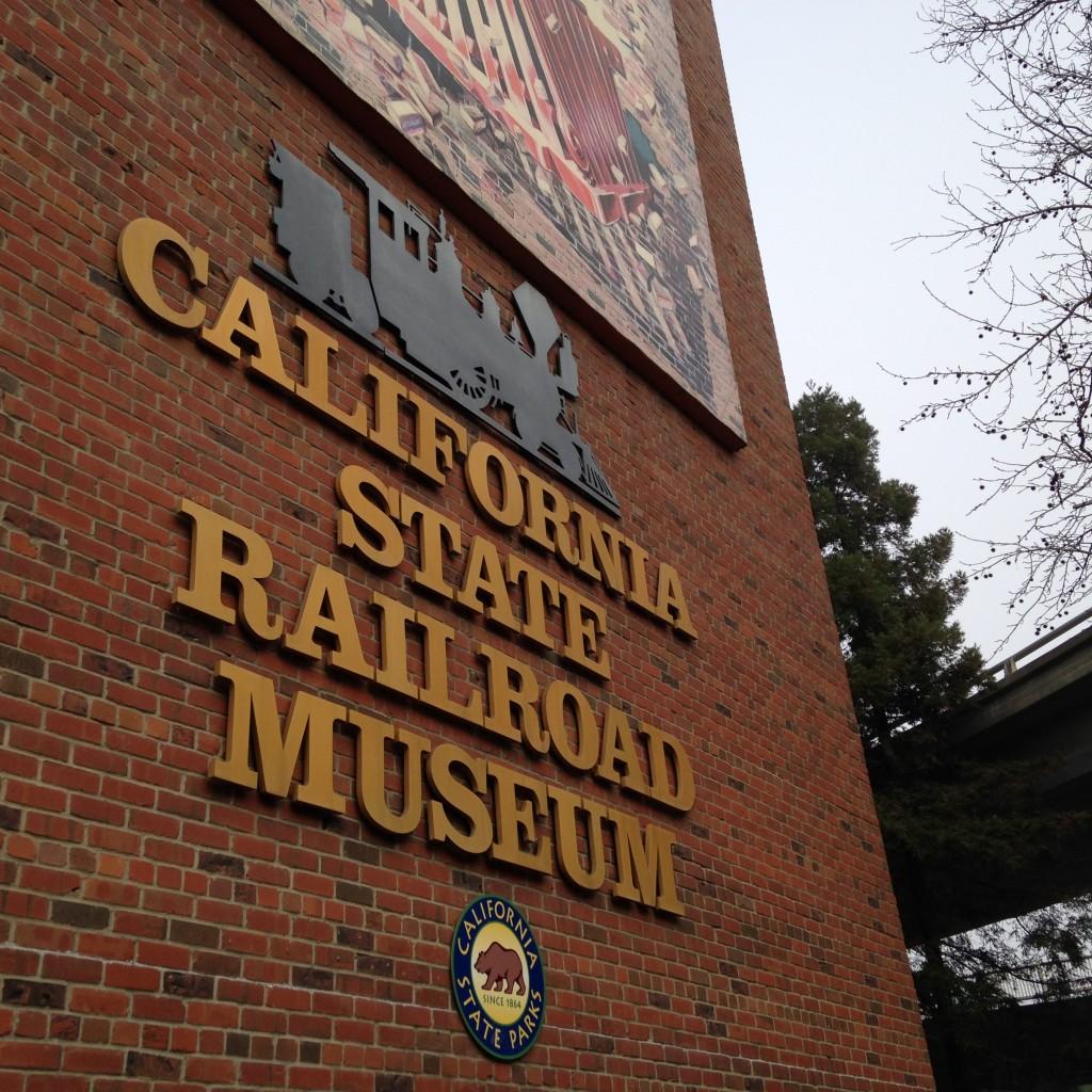 exterior of California State Railroad Museum