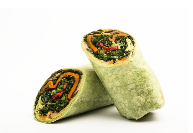 Grilled Vegetable Hummus Wrap