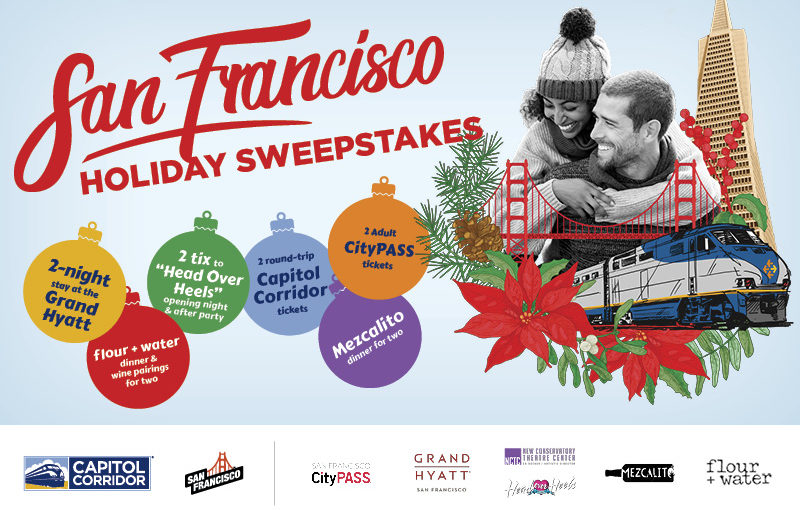 WIN A WEEKEND GETAWAY IN SAN FRANCISCO, DECEMBER 14-15, 2019