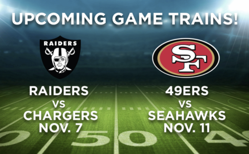 November Raiders & 49ers Games