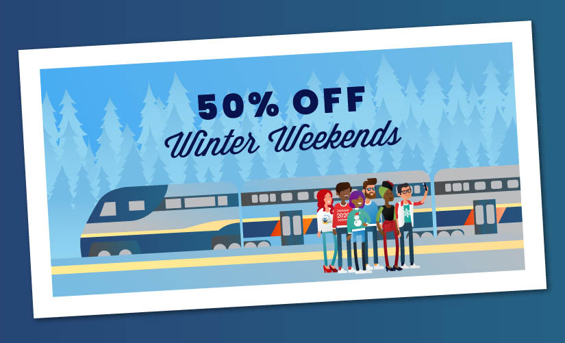 Capitol Corridor Offers 50% Off Winter Weekend Fares
