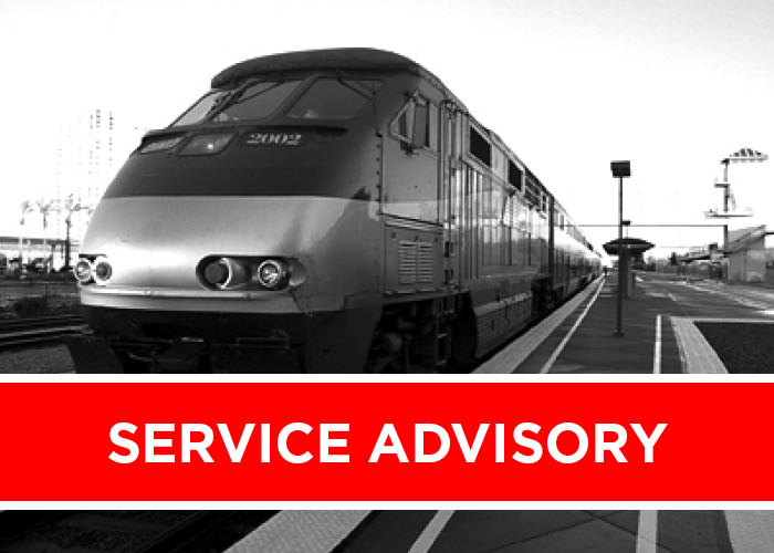 Minor Delays Possible Through March 15 Due to Track Work