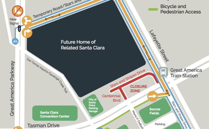Santa Clara-Great America Station Road Closures Begin on August 3