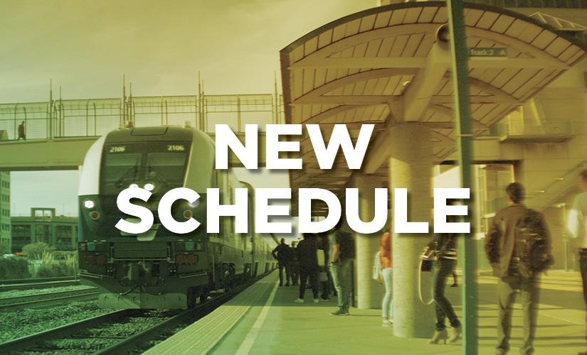 New schedule banner