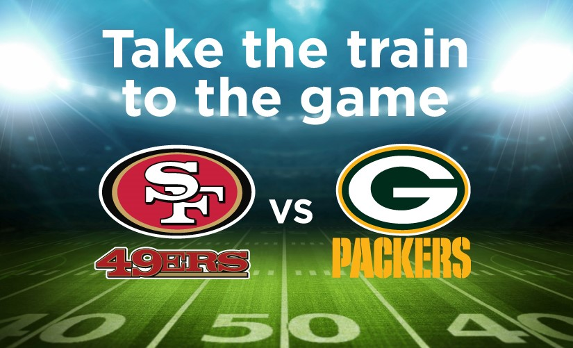 Capitol Corridor Offers Special Service for Football Fans Traveling to Levi's®Stadium for September 26th 49ers vs Packers Game