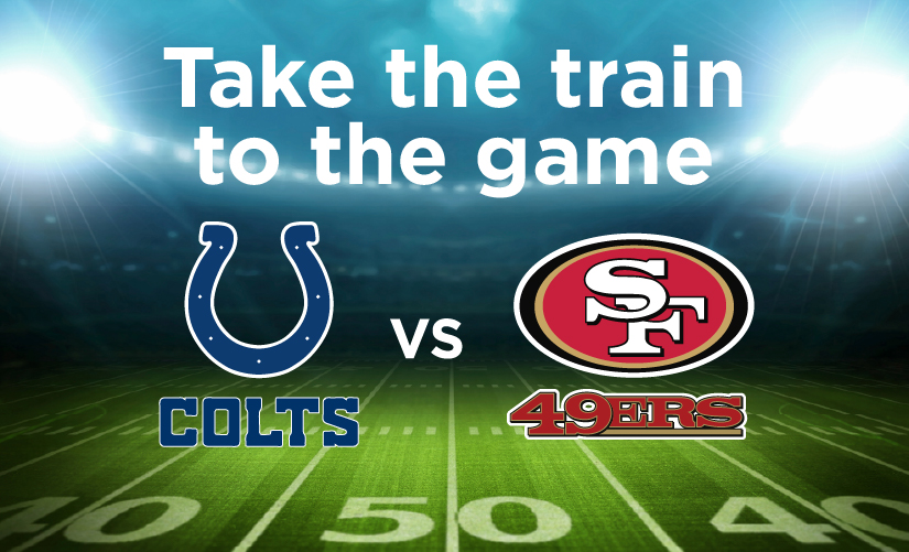 Capitol Corridor Offers Special Service for Football Fans Traveling to Levi's®Stadium for Oct 24th 49ers Game