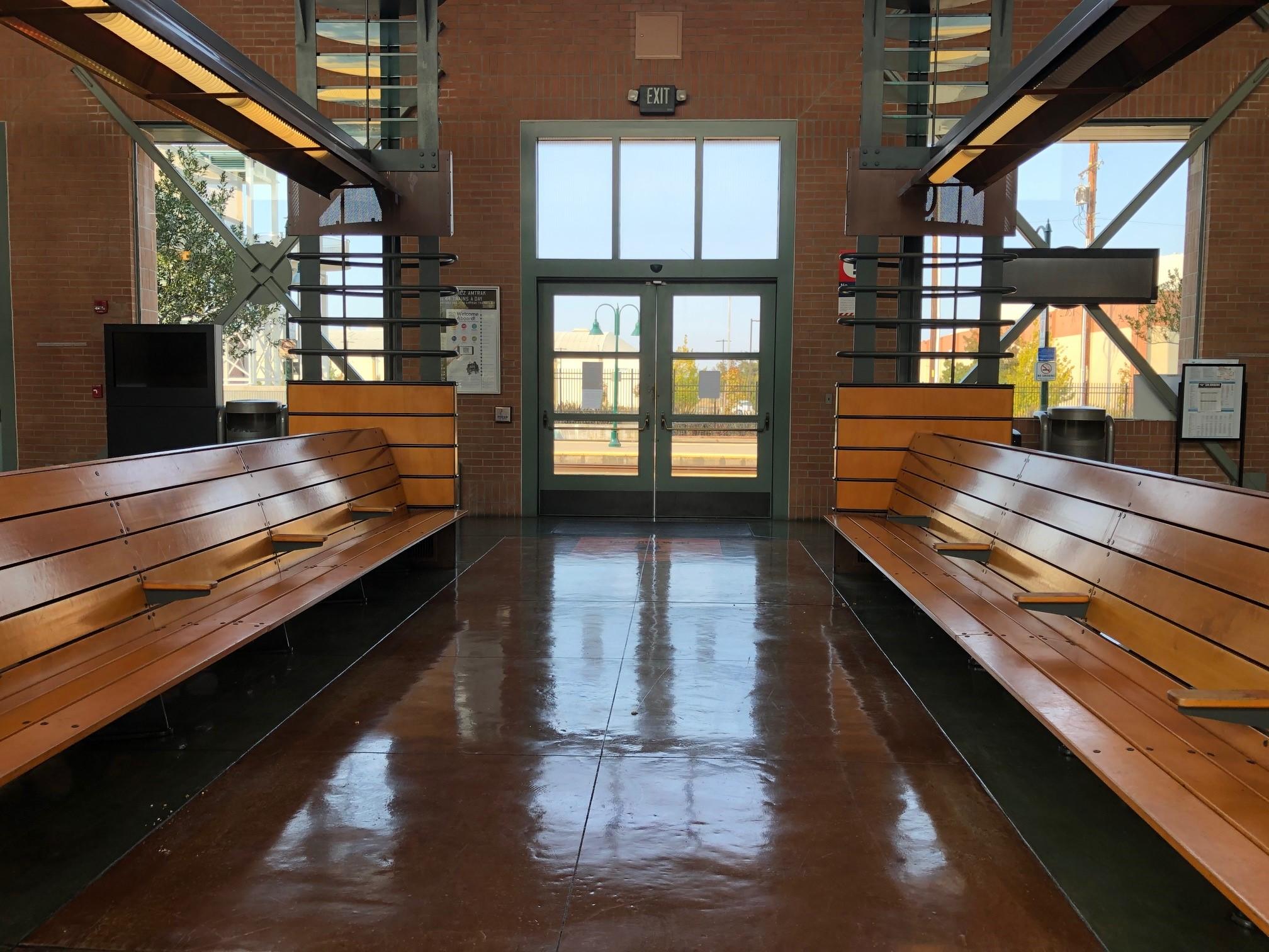 Inside of Martinez station