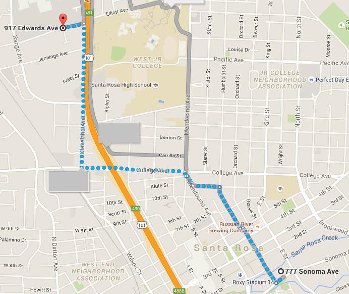 Santa Rosa Bus Stop Moving on Monday October 5 Capitol Corridor