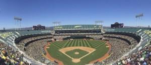 Photo Oakland Coliseum during A's Game