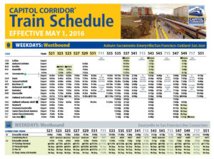 Image of train schedules document
