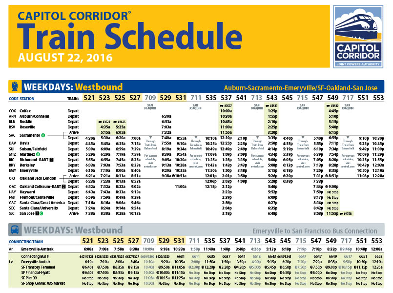 Image of train schedule