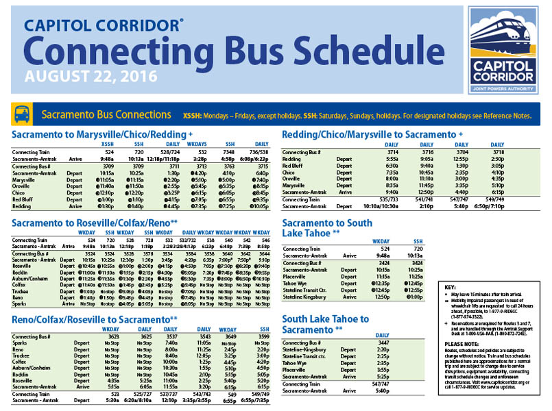 Capitol Corridor Train Schedules For All Routes And Stations