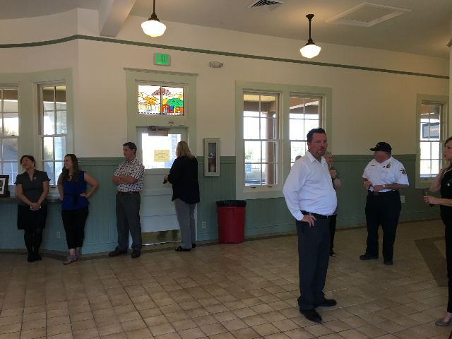Inside the renovated Suisun City Train Depot