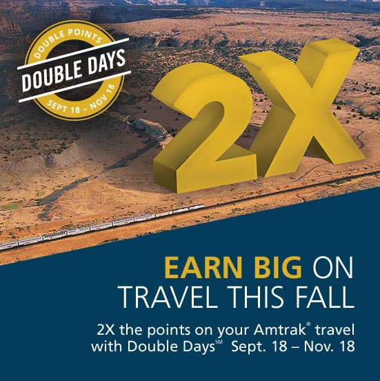 Amtrak Double Days Discount