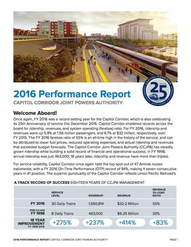 2016 Performance Report
