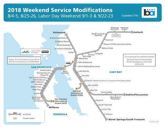 Bart San Francisco Map Stations.Bus Bridge To Replace Bart Service Between 19th St West Oakland